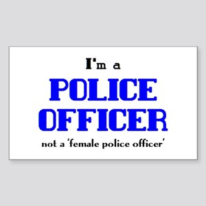 just police officer Sticker (Rectangle)