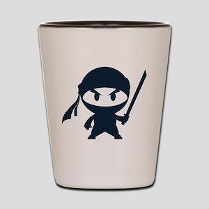 Angry ninja Shot Glass