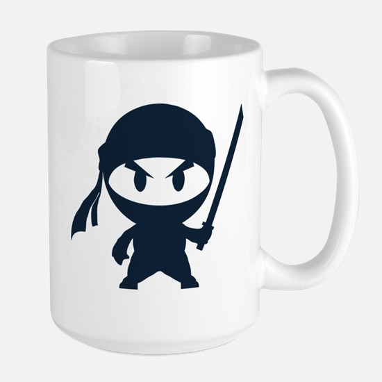 Angry ninja Large Mug