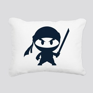 Angry ninja Rectangular Canvas Pillow