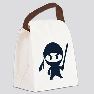 Angry ninja Canvas Lunch Bag