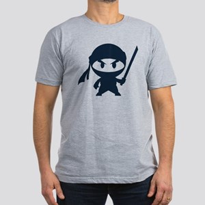 Angry ninja Men's Fitted T-Shirt (dark)