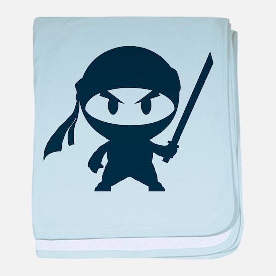 Angry ninja baby blanket