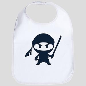 Angry ninja Bib
