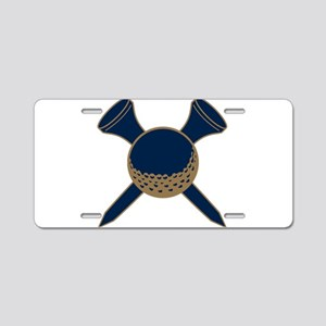 Blue and Gold Golf Aluminum License Plate