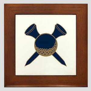 Blue and Gold Golf Framed Tile