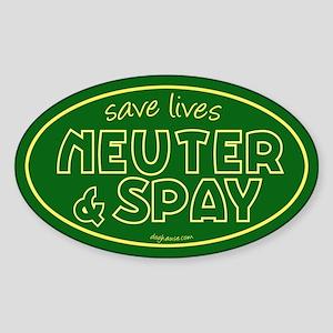 Save Lives (Green) Oval Sticker