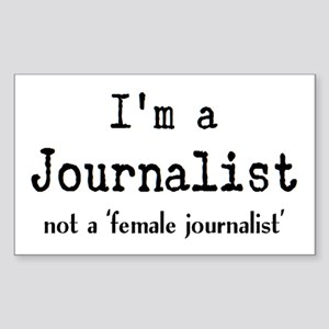 just journalist Sticker (Rectangle)