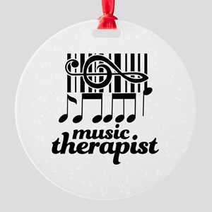 Music Therapist Gift Round Ornament