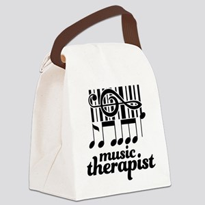Music Therapist Gift Canvas Lunch Bag