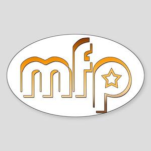 MFP brown w/star Oval Sticker