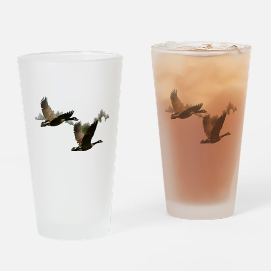 Canadian Geese Pint Glass
