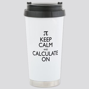 Keep Calm and Calculate On Stainless Steel Travel