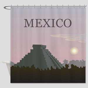 Vintage Mexico Sunset Shower Curtain