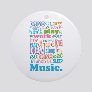 Music Lover Ornament (Round)
