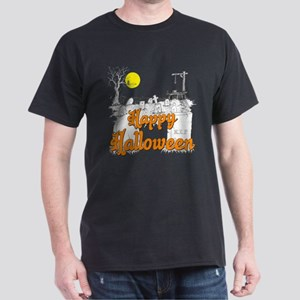 Halloween Graveyard Dark T-Shirt