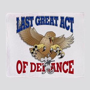 Last Great Act of Defiance v3 Throw Blanket