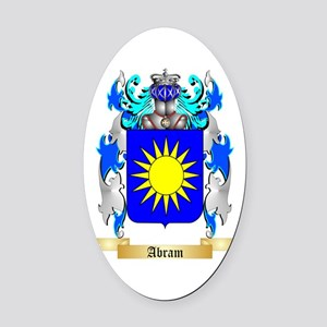 Abram Oval Car Magnet