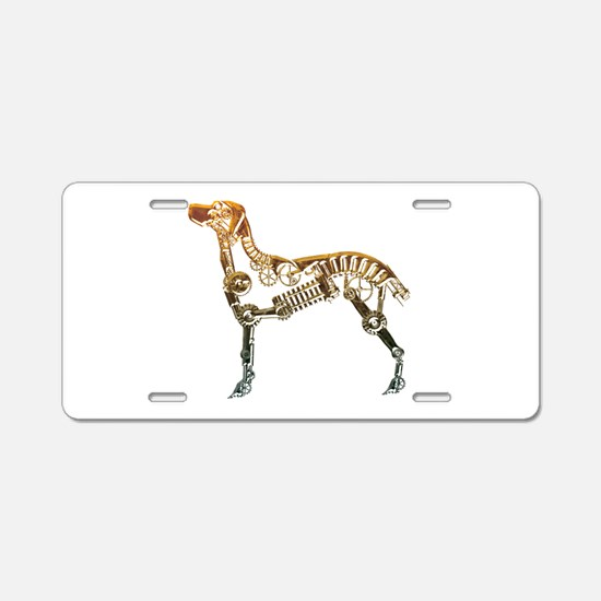 Industrial dog Aluminum License Plate