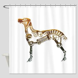 Industrial dog Shower Curtain