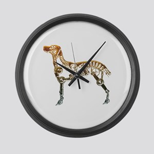 Industrial dog Large Wall Clock