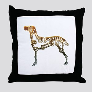 Industrial dog Throw Pillow