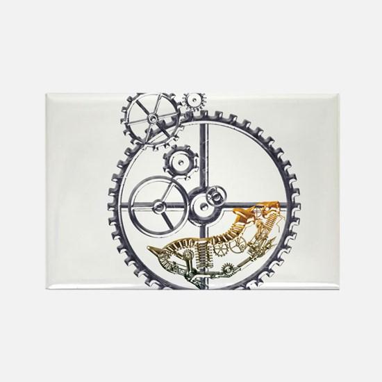 Industrial Hamster in a wheel Rectangle Magnet