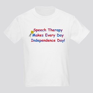 Speech Therapy Independence Kids T-Shirt