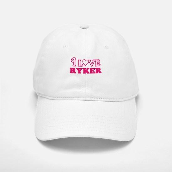 I Love Ryker Baseball Baseball Cap