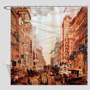 Broadway Street Vintage Shower Curtain