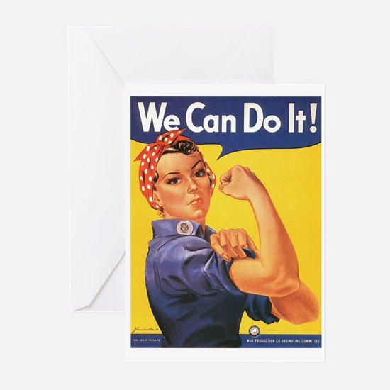 WWII POSTER WE CAN DO IT! Greeting Cards (Package