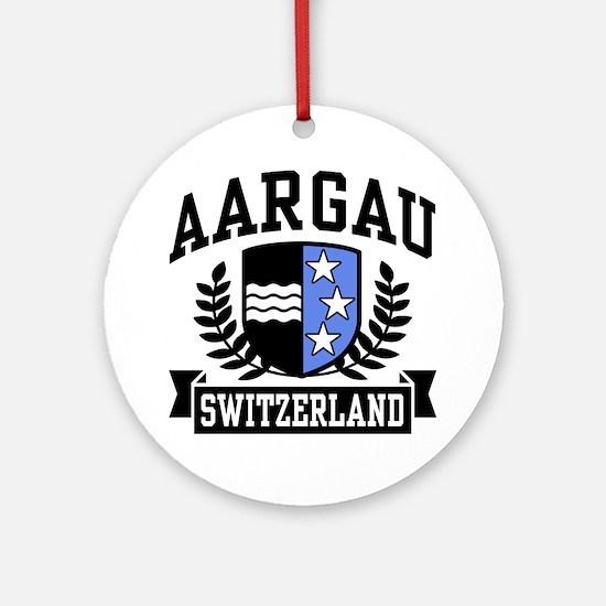Aargau Switzerland Ornament (Round)