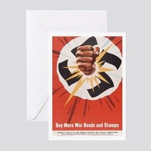 WWII POSTER BUY MORE WAR BONDS Greeting Cards (Pac