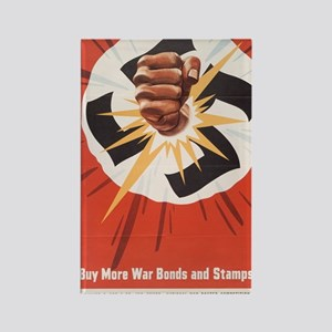 WWII POSTER BUY MORE WAR BONDS Rectangle Magnet