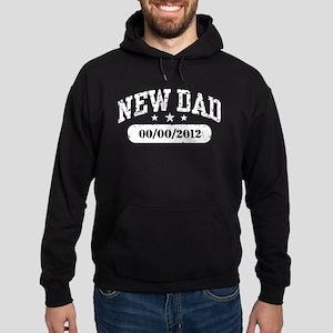 New Dad (add birth date) Hoodie (dark)
