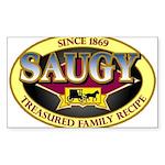 SAUGYLOGO Sticker (Rectangle 50 pk)