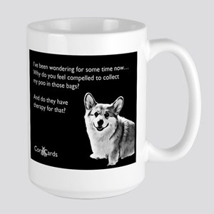 Corgi Therapy Large Mug