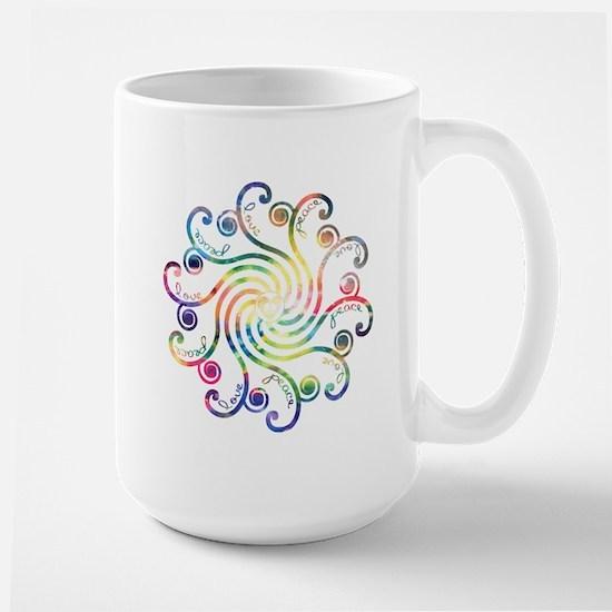 Cosmic Peace Love Large Mug