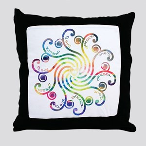 Cosmic Peace Love Throw Pillow