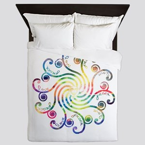 Cosmic Peace Love Queen Duvet