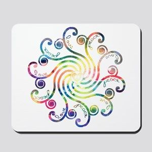 Cosmic Peace Love Mousepad