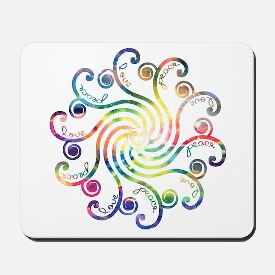 Cosmic Peace Love Mousepad