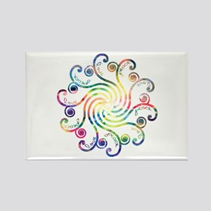 Cosmic Peace Love Rectangle Magnet