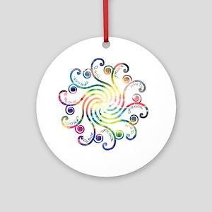 Cosmic Peace Love Ornament (Round)