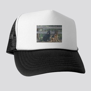 two german shepherds Trucker Hat