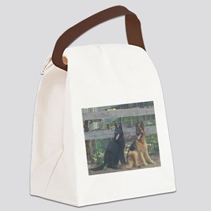 two german shepherds Canvas Lunch Bag