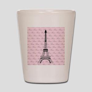 Pink and Black Paris Eiffel Tower Shot Glass
