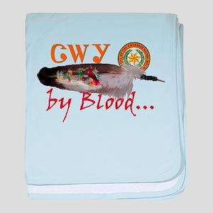 Cherokee by Blood baby blanket