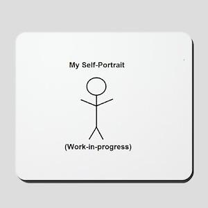 Funny Self-Portrait Mousepad