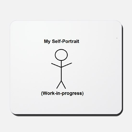 Funny Self-Portrait Mousepad